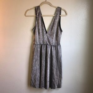 Divided Sparkly Silver Dress